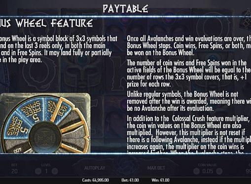 Правила бонусной игры в Asgardian Stones онлайн