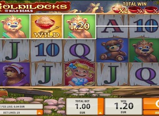 Призовая комбинация на линии в игре Goldilocks