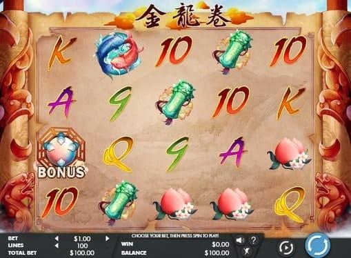 Выпадение бонуса в игре Dragon's Scroll