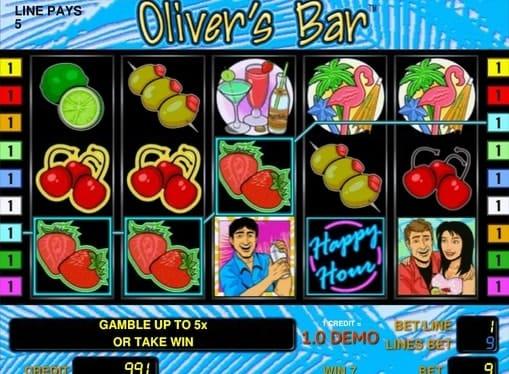 Выигрыш на линии в Oliver's Bar
